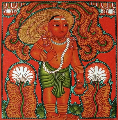 Kerala mural paintings contemporary masters of vedic art for Buy mural paintings