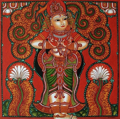Kerala mural paintings contemporary masters of vedic art for Buy kerala mural paintings online